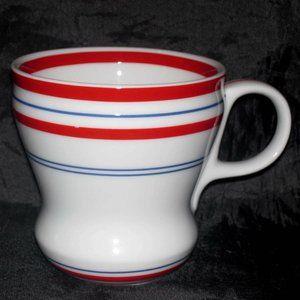2007 STARBUCKS STRIPES CURVY COFFEE MUG